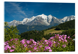 Acrylglas print  View from the village Cordon to Mont Blanc Massif, France - Frauke Scholz