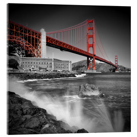 Acrylglas print  Golden Gate Bridge Fort Point - Melanie Viola