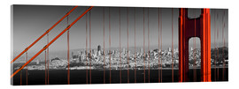 Acrylglas print  Golden Gate Bridge Panoramic - Melanie Viola