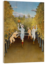 Hout print  The ball players - Henri Rousseau