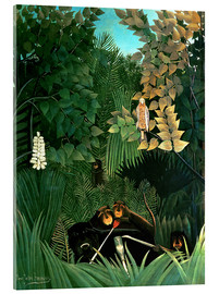 Acrylglas print  The monkeys - Henri Rousseau