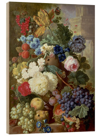 Hout print  Flowers and Fruit - Jan van Os