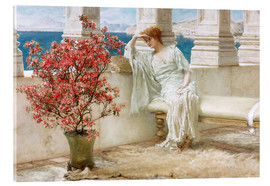 Acrylglas print  Her eyes are with her thoughts and they are far away - Lawrence Alma-Tadema