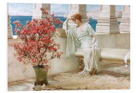 PVC print  Her eyes are with her thoughts and they are far away - Lawrence Alma-Tadema