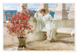 Premium poster  Her eyes are with her thoughts and they are far away - Lawrence Alma-Tadema