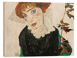 Hout print  Portrait of Wally Neuzil - Egon Schiele