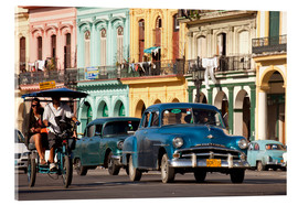 Acrylglas print  classic us cars in havanna, cuba - Peter Schickert