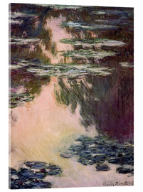 Acrylglas print  Waterlilies with Weeping Willows - Claude Monet