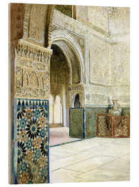 Acrylglas print  Interior of the Alhambra, Granada - French School