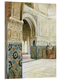 PVC print  Interior of the Alhambra, Granada - French School