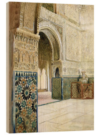 Hout print  Interior of the Alhambra, Granada - French School