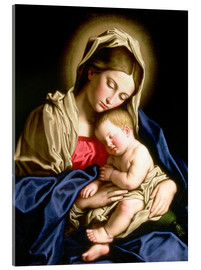 Acrylglas print  Madonna and child - Il Sassoferrato