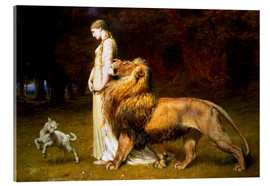 Acrylglas print  Una and the Lion, from Spenser's Faerie Queene - Briton Riviere