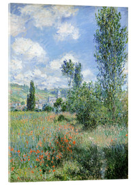 Acrylglas print  Path Through the Poppies, Île Saint-Martin, Vetheuil - Claude Monet