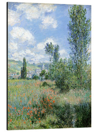 Aluminium print  Path Through the Poppies, Île Saint-Martin, Vetheuil - Claude Monet