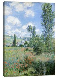 Canvas print  Path Through the Poppies, Île Saint-Martin, Vetheuil - Claude Monet