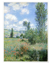 Premium poster  Path Through the Poppies, Île Saint-Martin, Vetheuil - Claude Monet