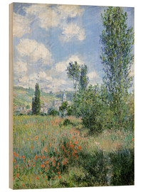 Hout print  Path Through the Poppies, Île Saint-Martin, Vetheuil - Claude Monet