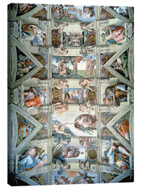Canvas print  Sistine Chapel - ceiling and lunettes - Michelangelo