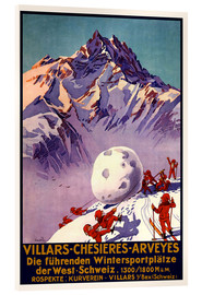 Acrylglas print  Winter Sports in Villars, Chesieres and Arveyes - Travel Collection