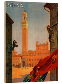Hout print  Siena, Tuscany in Italy - Travel Collection