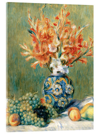 Acrylglas print  Still Life with Fruit and Flowers - Pierre-Auguste Renoir