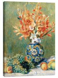 Canvas print  Still Life with Fruit and Flowers - Pierre-Auguste Renoir
