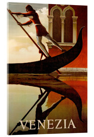 Acrylglas print  Italy - Venice gondolier - Travel Collection