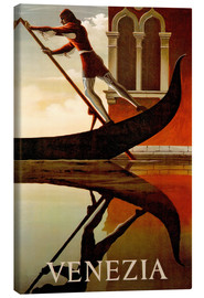Canvas print  Italy - Venice gondolier - Travel Collection