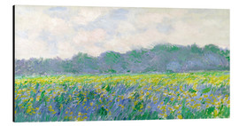 Aluminium print  Field of Yellow Irises in Giverny - Claude Monet