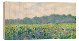 Hout print  Field of Yellow Irises in Giverny - Claude Monet