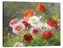 Canvas print  Cluster of Poppies - Louis Marie Lemaire