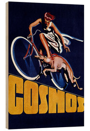Hout print  Cosmos bicycles - Advertising Collection
