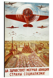 Aluminium print  Aircraft parade on Moscow - Advertising Collection