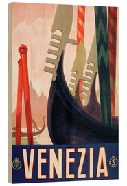 Hout print  Italy - Venice