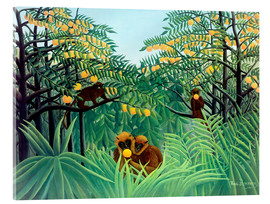 Acrylglas print  Apes in the Orange Grove - Henri Rousseau
