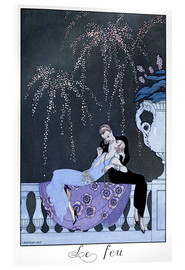 Acrylglas print  The Fire - Georges Barbier