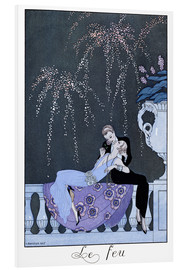PVC print  The Fire - Georges Barbier