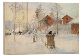 Hout print  The Yard and Wash-House - Carl Larsson