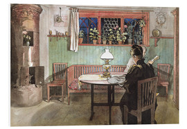 PVC print  When the Children have Gone to Bed - Carl Larsson