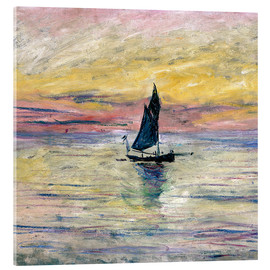 Acrylglas print  Sailboat evening - Claude Monet