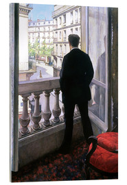 Acrylglas print  Man at the Window - Gustave Caillebotte