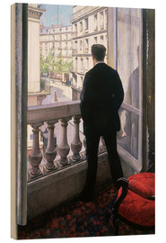 Hout print  Man at the Window - Gustave Caillebotte