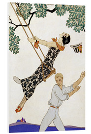 PVC print  The Swing, 1920s - Georges Barbier