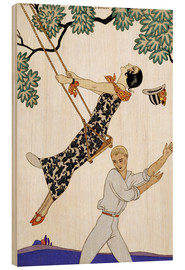 Hout print  The Swing, 1920s - Georges Barbier