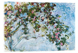 Acrylglas print  The roses - Claude Monet