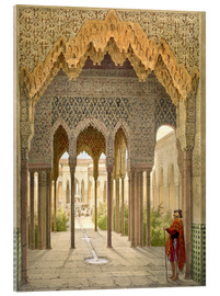 Acrylglas print  The Court of the Lions, the Alhambra, Granada, 1853 - Léon Auguste Asselineau