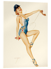 Acrylglas print  US Air Force Girl - Alberto Vargas