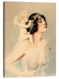 Canvas print  Girl with angel - Alberto Vargas