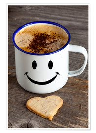 Premium poster Cup with smiley face